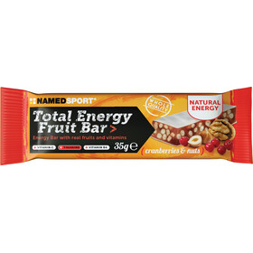 NAMEDSPORT Total Energy Boîte de barres aux fruits 25x35g, Cranberry & Nuts